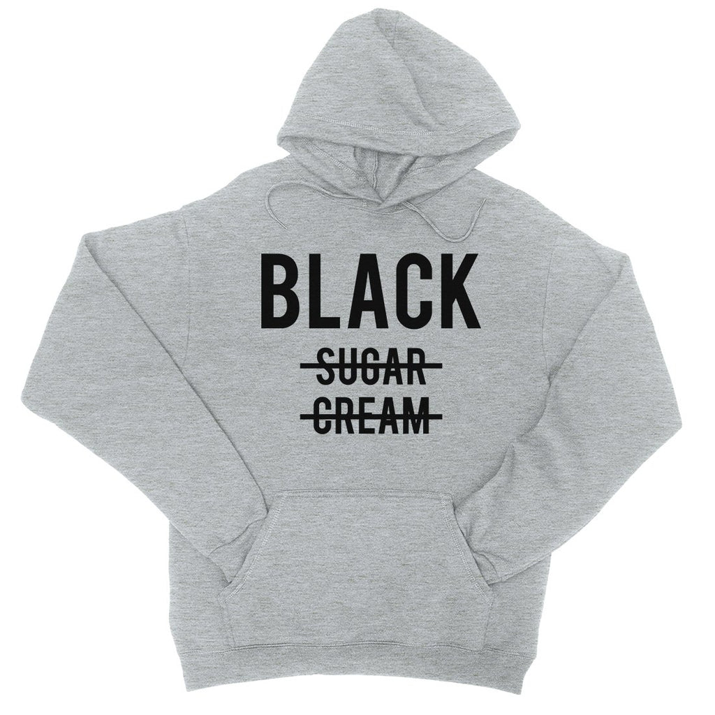 365 Printing Black No Sugar Cream Womens Hoodie Funny Coffee Lovers Gift Ideas