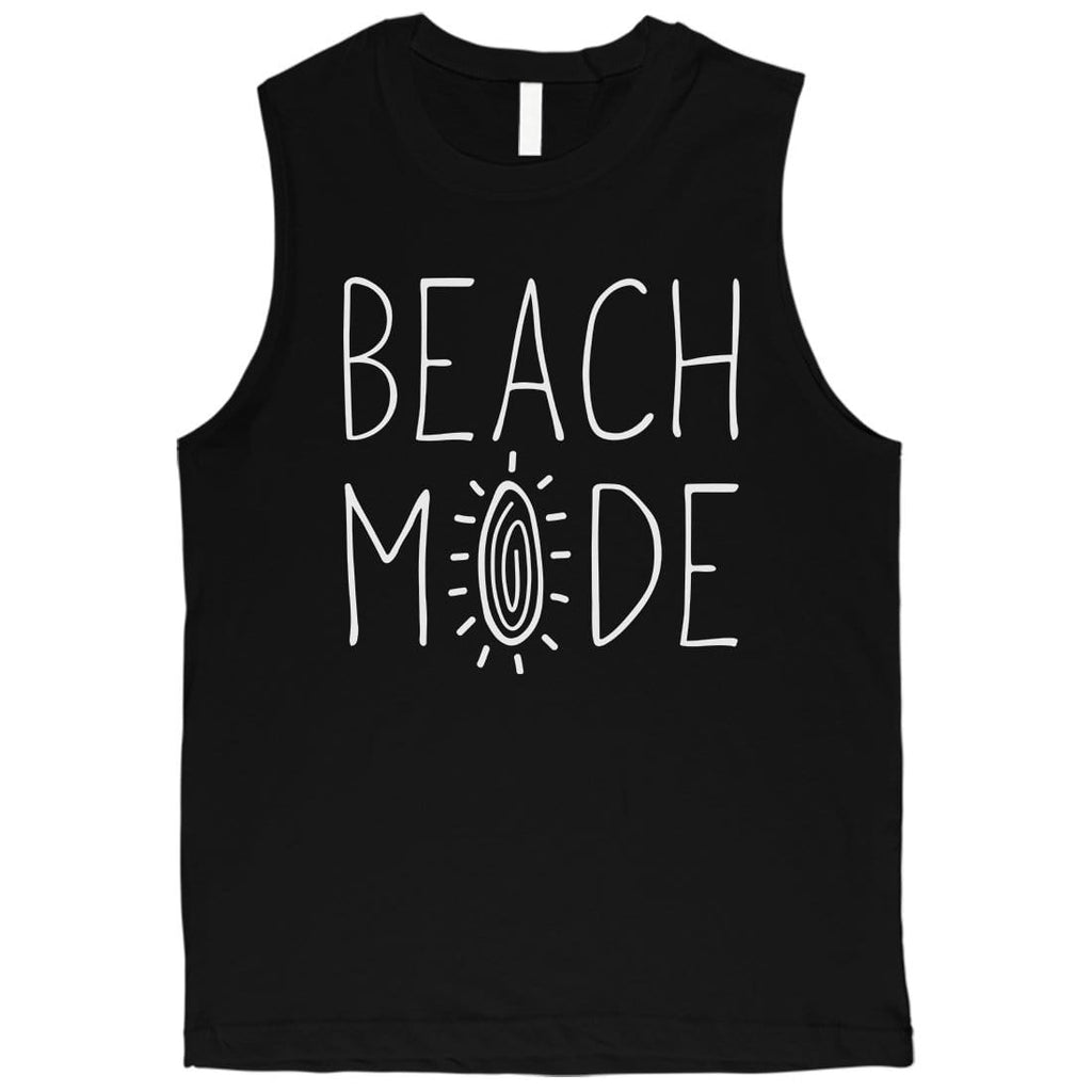 365 Printing Beach Mode Mens Relax Serene Mood Summer Vacation Muscle Shirt
