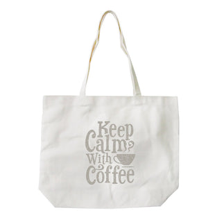 Keep Calm Coffee Canvas Shoulder Bag