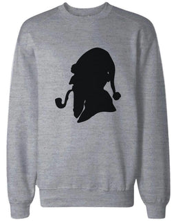 Consulting Detective Santa Silhouette Funny Sweatshirts Christmas Pullover Fleece