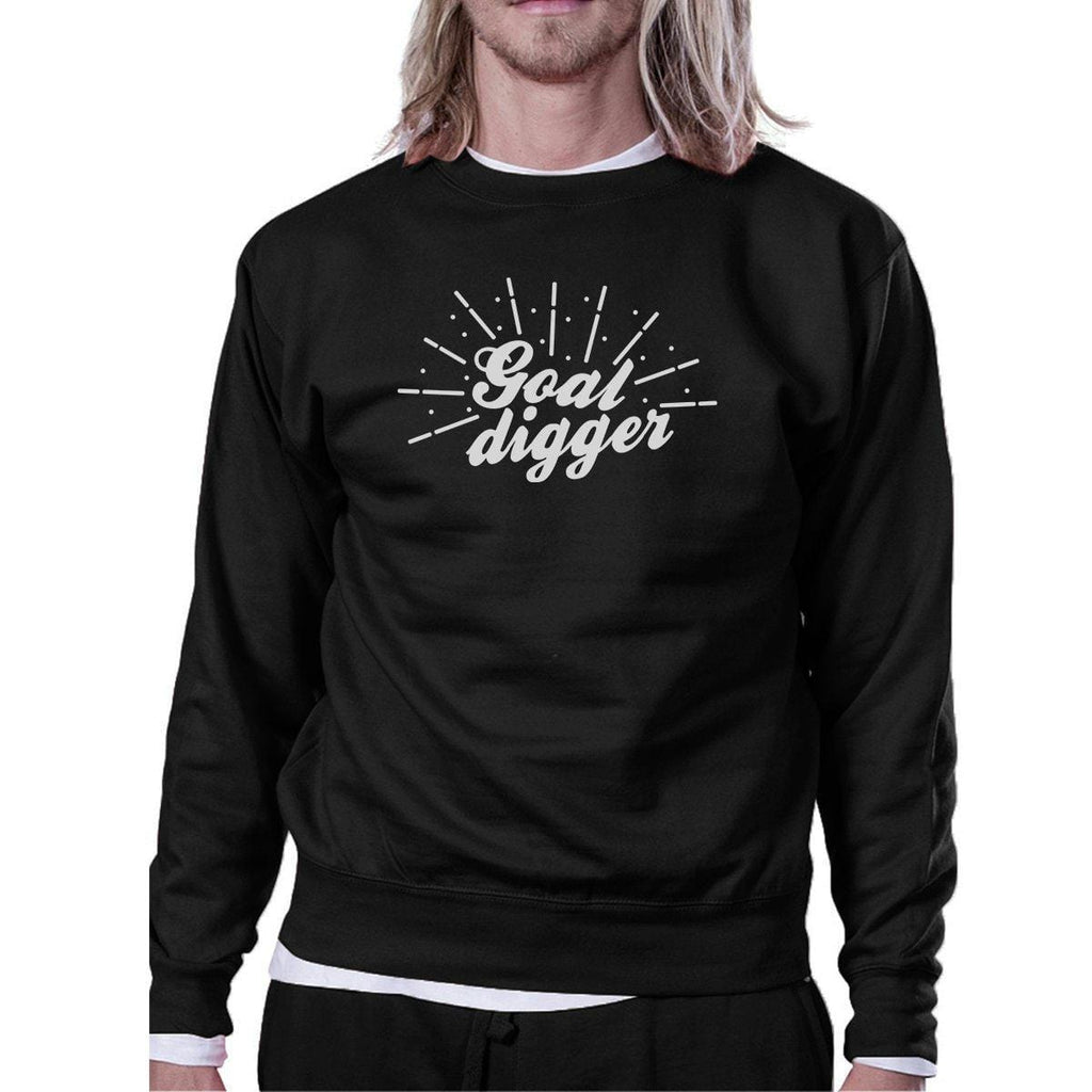 Goal Digger Unisex Crewneck Sweatshirt Cute Workout Pullover Gifts
