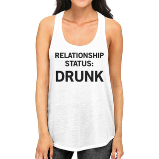 Relationship Status White Graphic Tank Top For Men Witty Gift Ideas