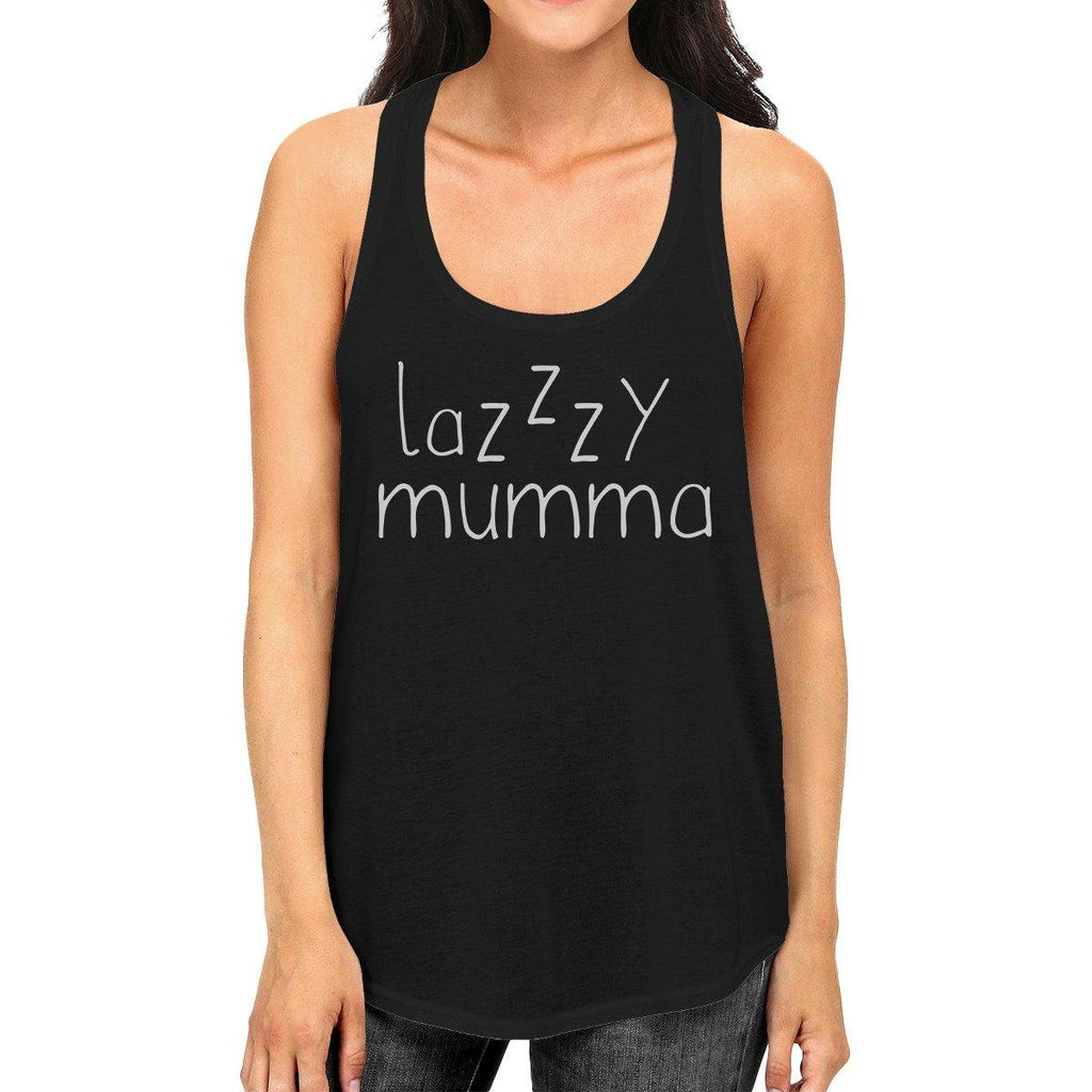 Lazzzy Mumma Women's Black Funny Graphic Tanks Gift Ideas For Her