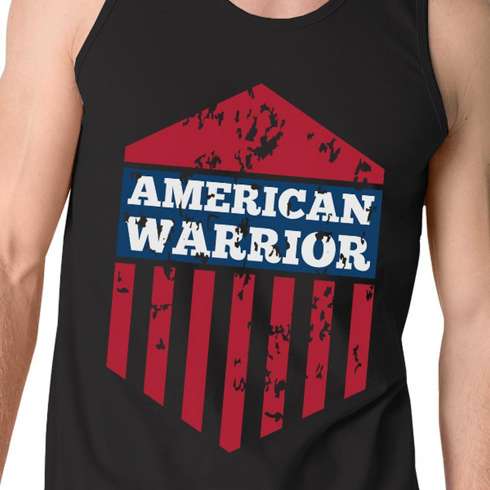 American Warrior Black Crewneck Graphic Tanks For Men Gift For Him