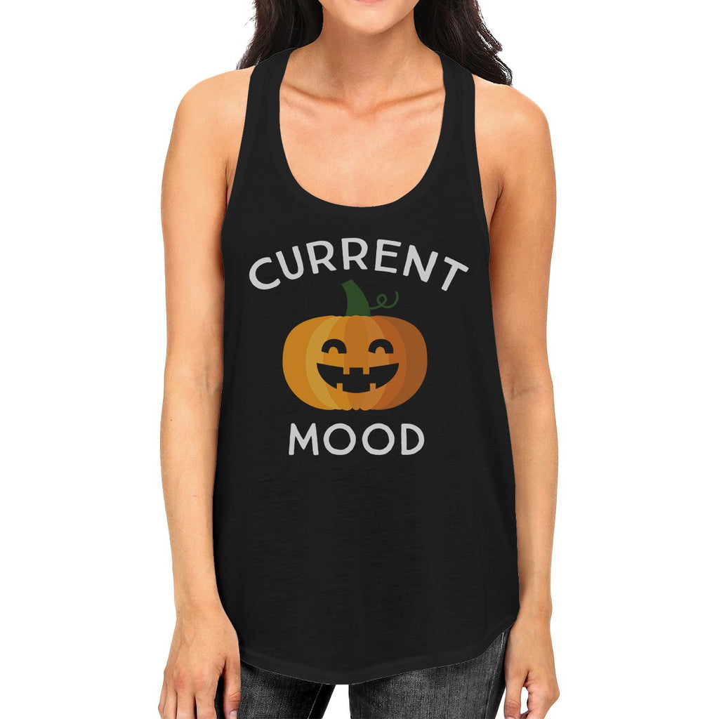 Pumpkin Current Mood Womens Black Tank Top