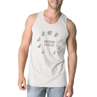 Moon Child Mens White Tank Top