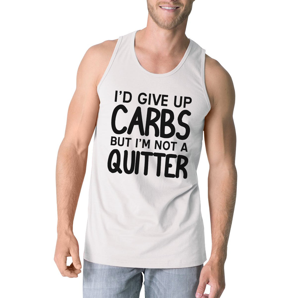 Carbs Quitter Mens Funny Graphic Tanks Gym Workout Tank Top Gifts