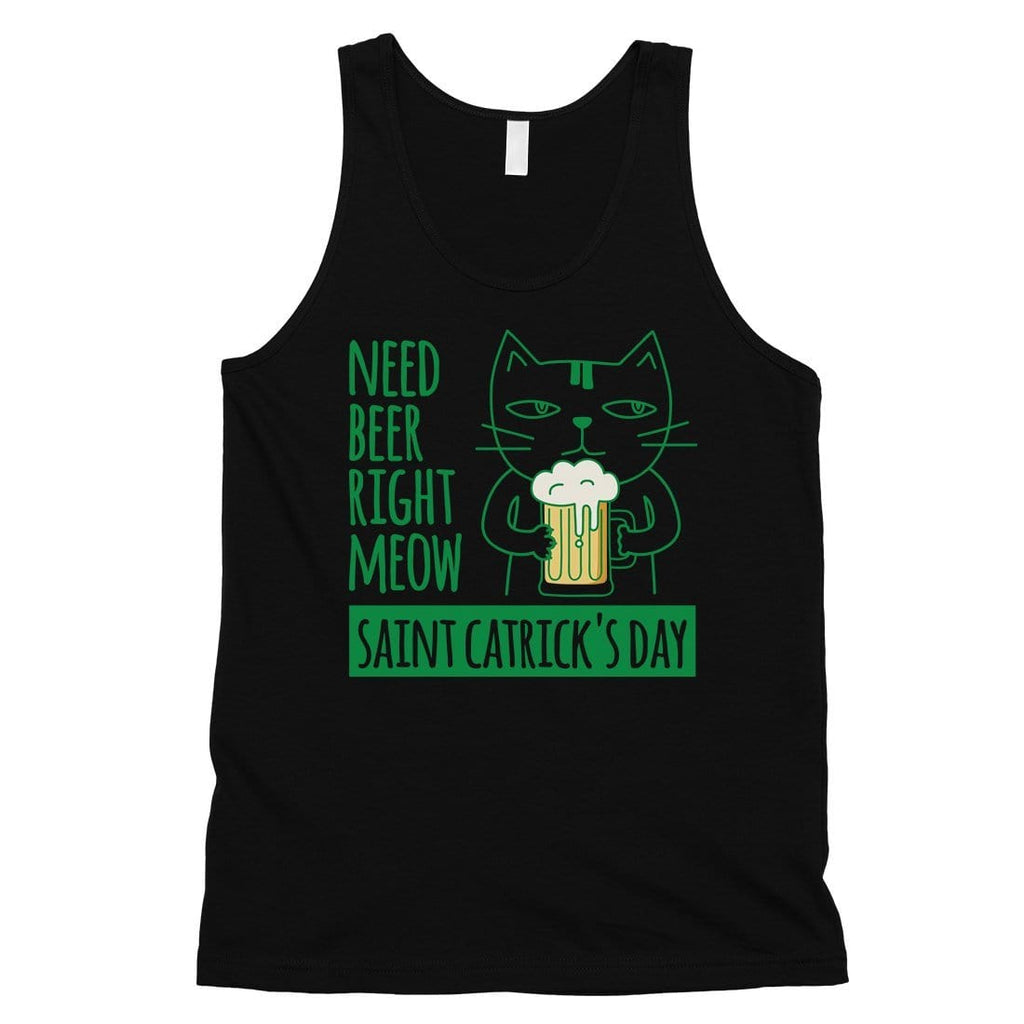 Beer Cat Patrick's Day Mens Tank Top Funny Saying Workout Tanks