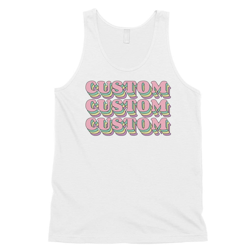 Sorority Theme Pink Top Text Fresh Mens Personalized Tank Tops Gift