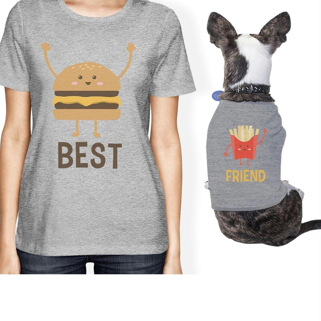 Hamburger And Fries Small Pet Owner Matching Gift Outfits For Her