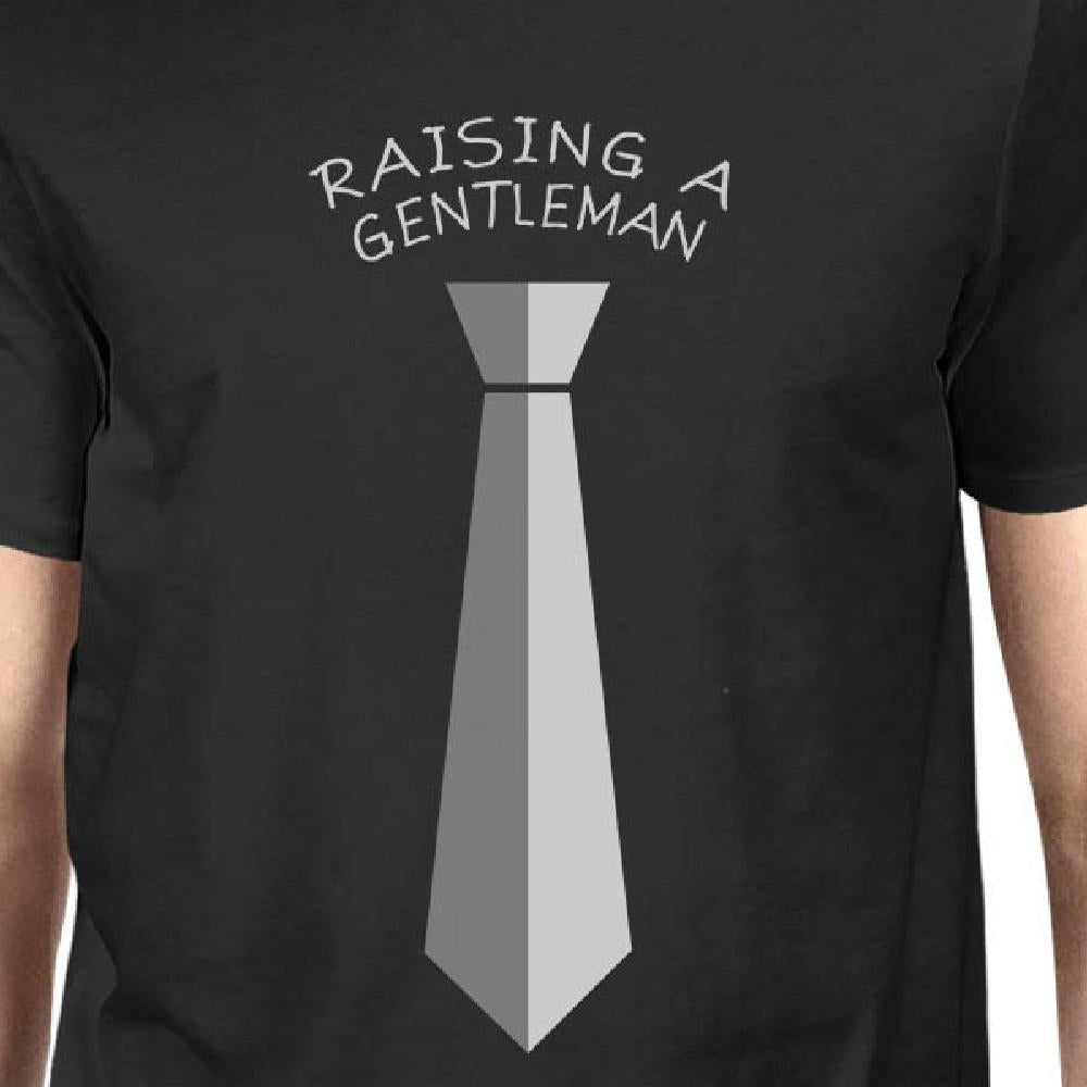 Raising A Gentleman Ladies Love A Gentleman Owner and Pet Matching Black Shirts