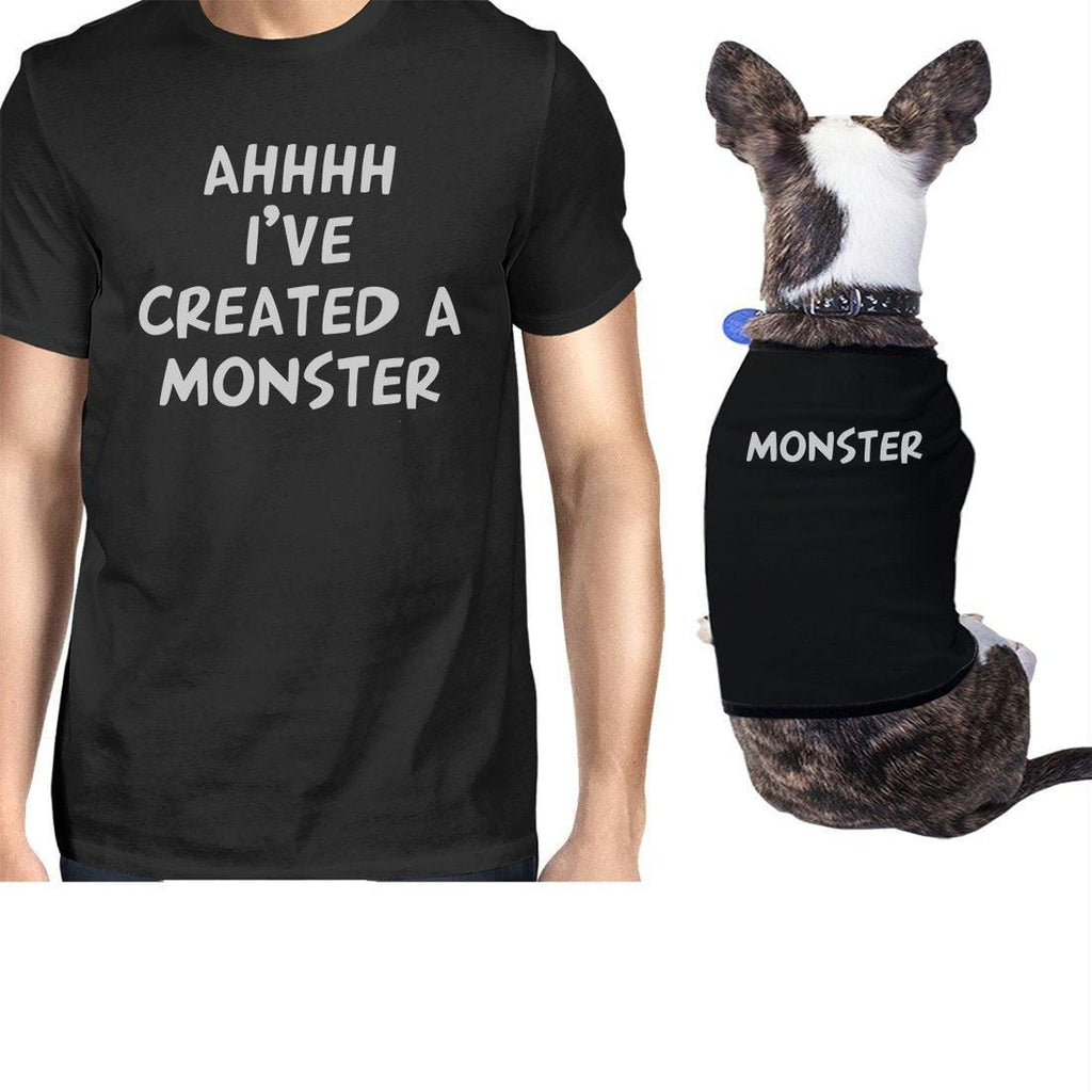Created A Monster Small Dog and Owner Matching Shirts Unique Gift