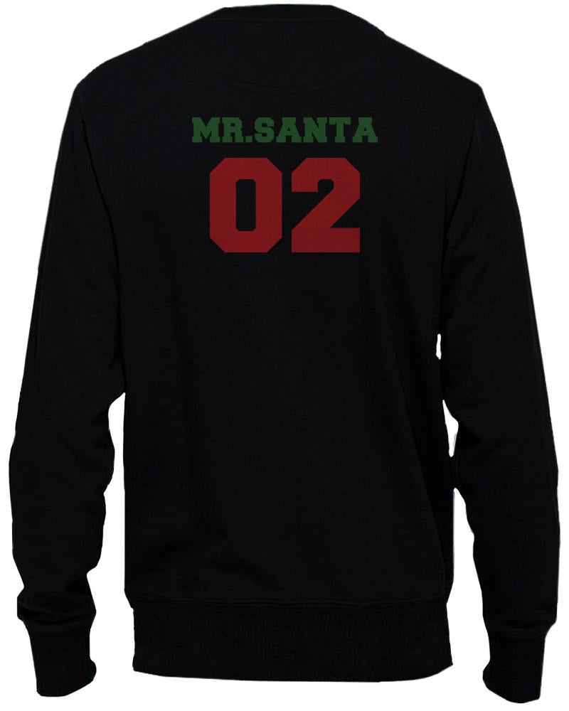 Mr Santa 02 and Mrs Santa 01 Matching Christmas Couple Sweatshirts