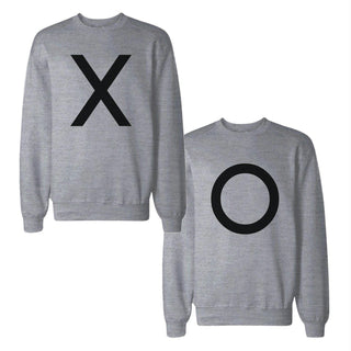 X And O Bold Couple Sweatshirts Simple Matching Gifts For Christmas