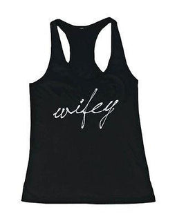 Hubby and Wifey Cute Matching Couple Tank Tops Great Gift Idea for Couples