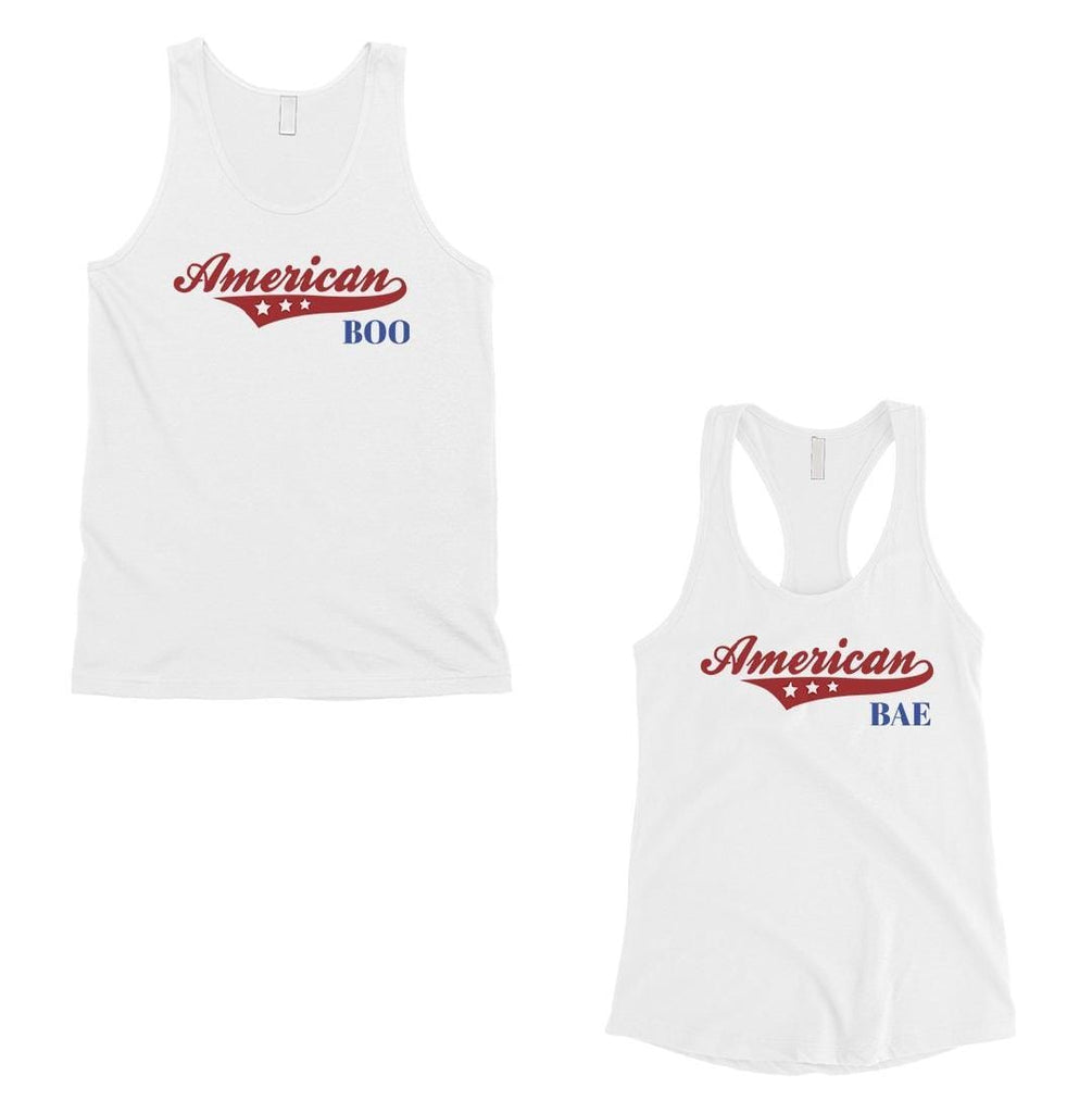 American Boo Bae Matching Couple Tank Tops Anniversary Gift For Bae