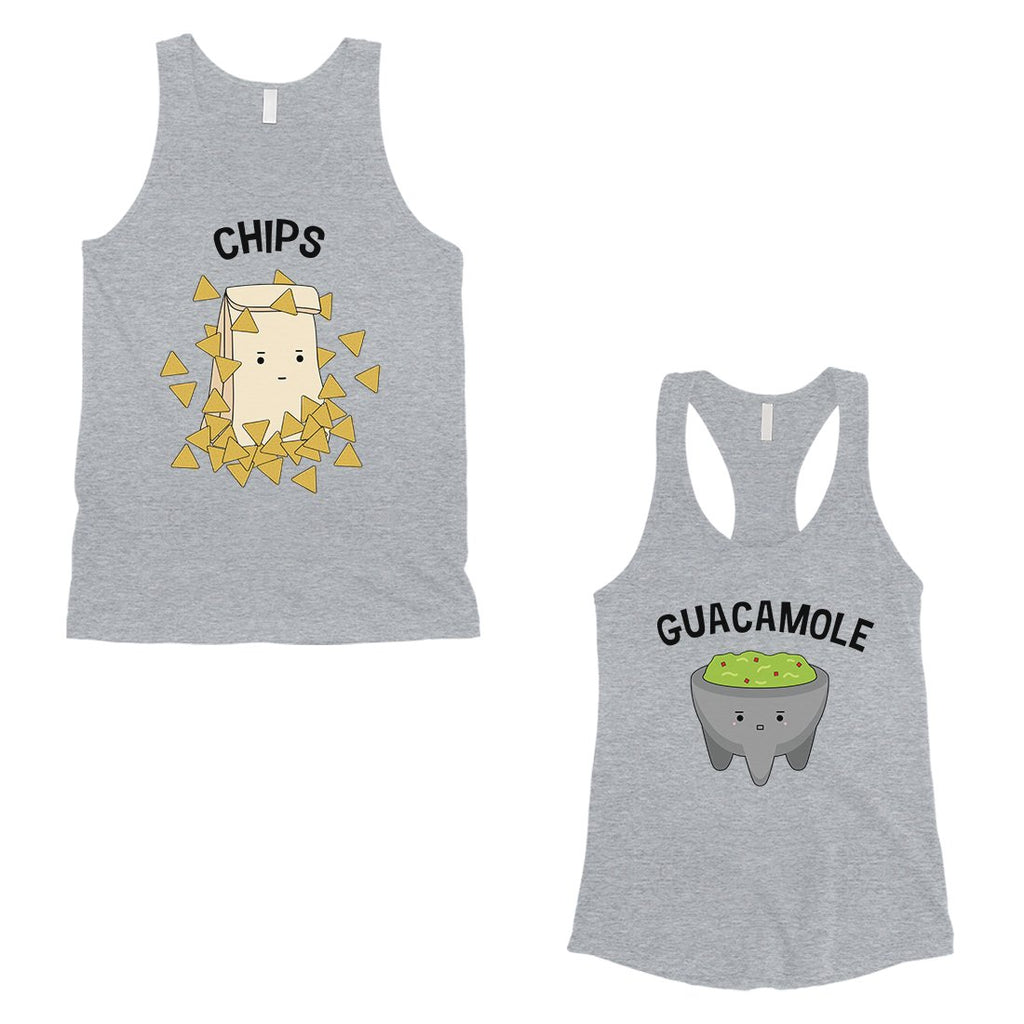 Chips & Guacamole Matching Couple Tank Tops Funny Wedding Gift