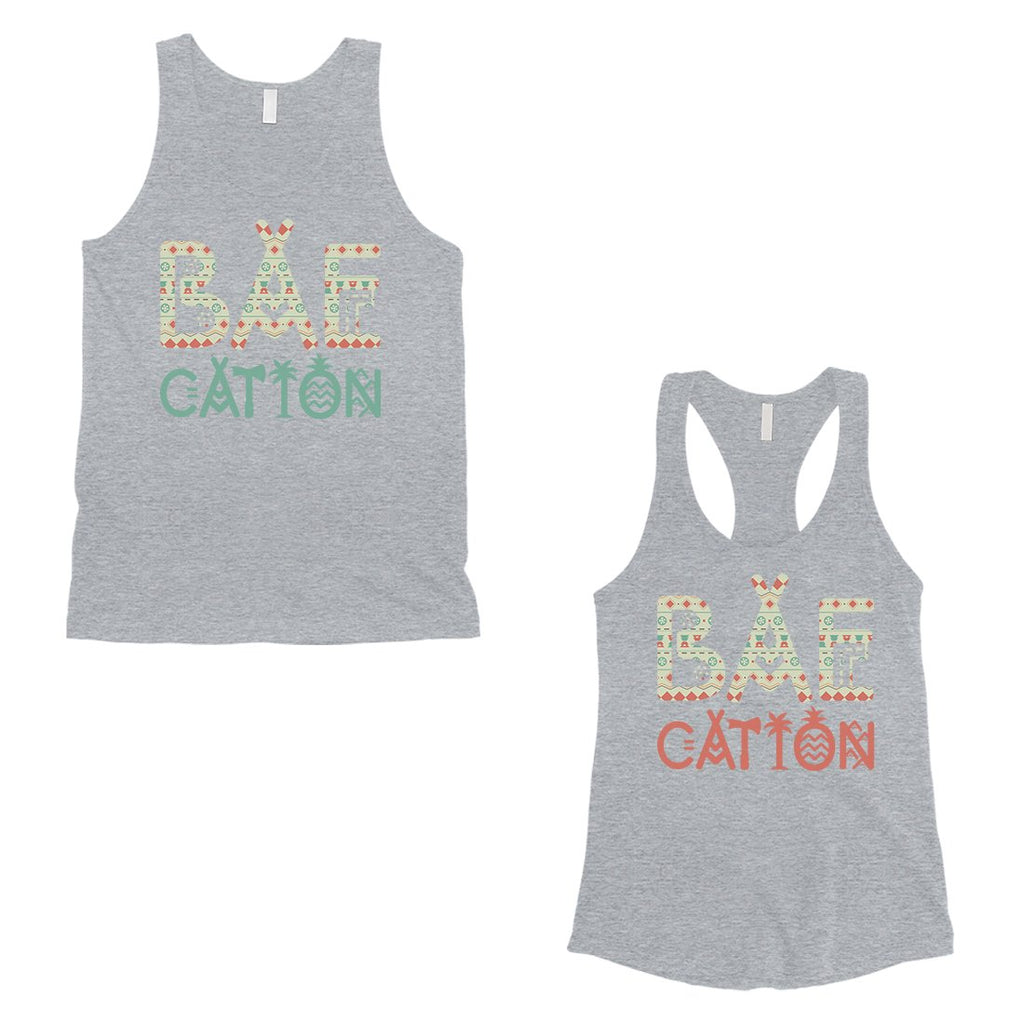 BAEcation Vacation Matching Couple Tank Tops Unique Newlywed Gifts