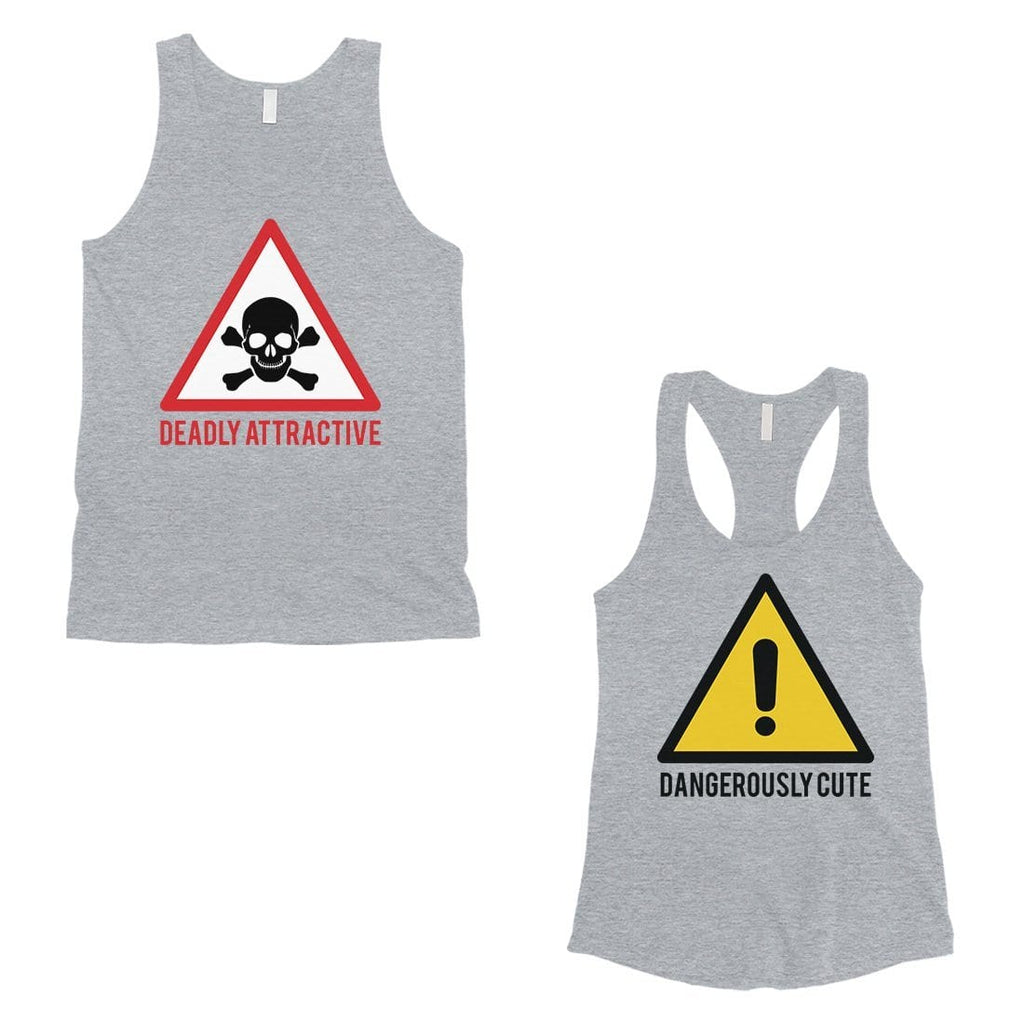 Attractive & Cute Matching Tank Tops Couples Valentine's Day Gift
