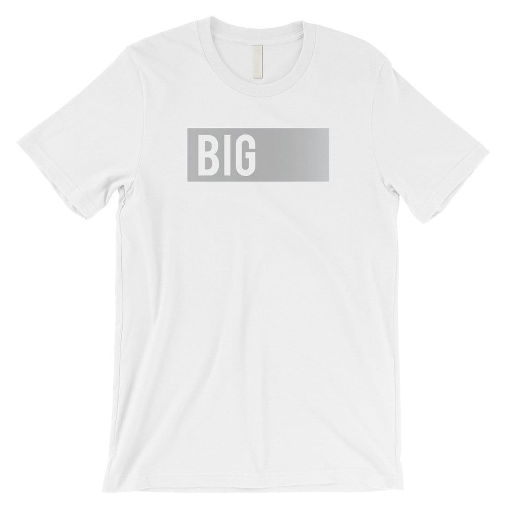 Big Little Boxed-SILVER Mens T-Shirt Classic Bright Saying Present