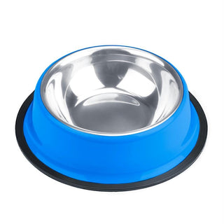 8oz. Blue Stainless Steel Dog Bowl