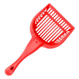 Red Cat Litter Scoop with Reinforced Comfort Handle
