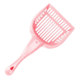 Coral Cat Litter Scoop with Reinforced Comfort Handle