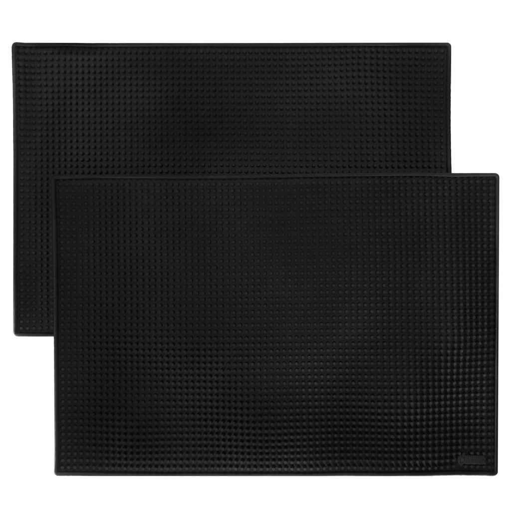 "18"" x 12"" Black Bar Mats, 2-pack"