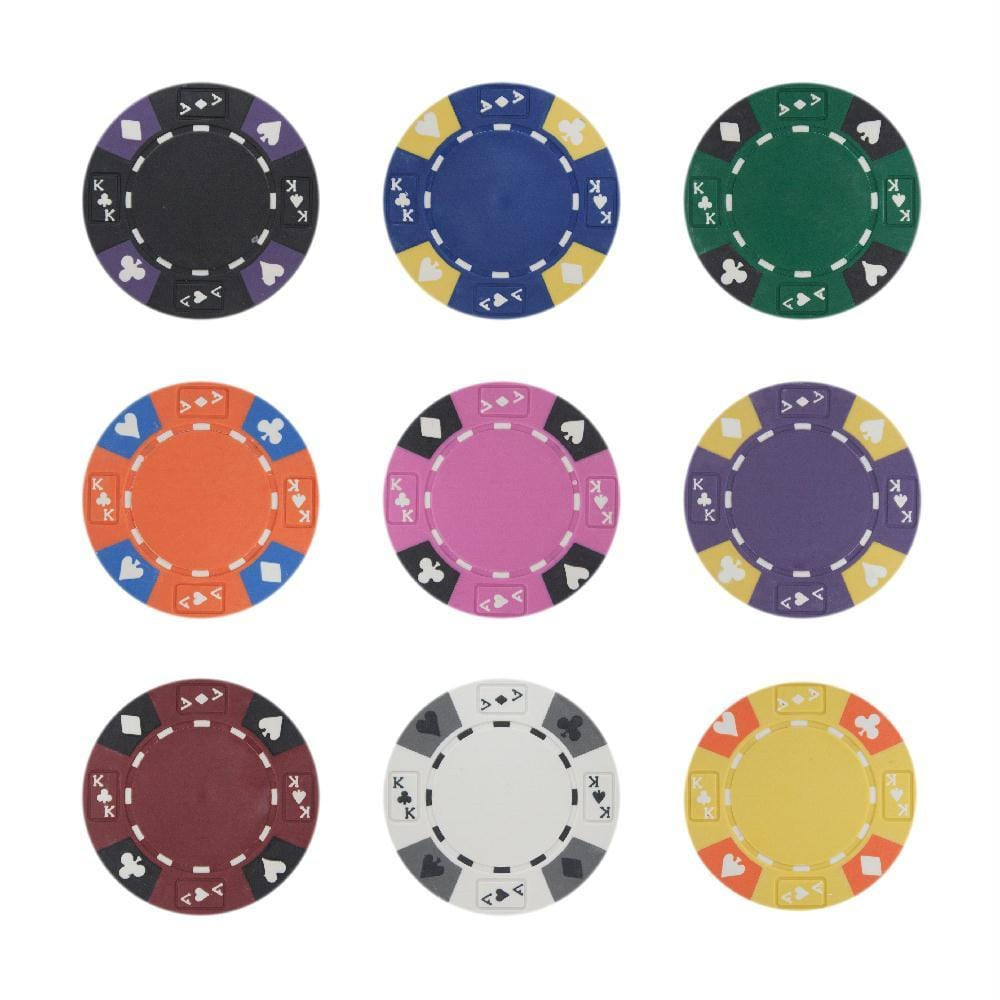 Roll of 25 - Black - Ace King Suited 14 Gram Poker Chips