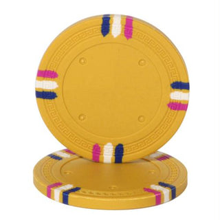 Yellow Blank Claysmith 12 Stripe Poker Chip - 13.5 grams