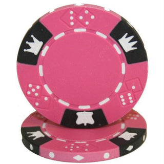Roll of 25 - Crown & Dice 3 Tone 14 gram - Pink