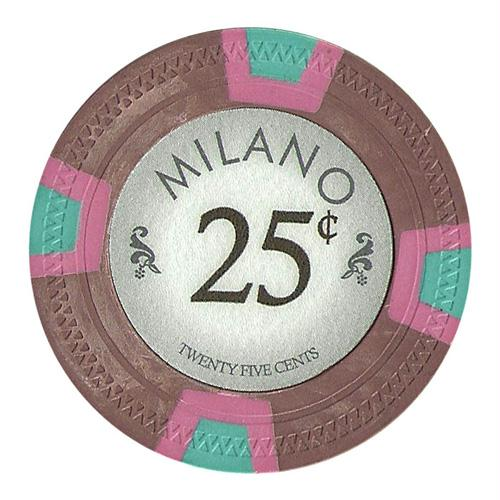 Roll of 25 - Milano 10 Gram Clay - .25¢  (cent)