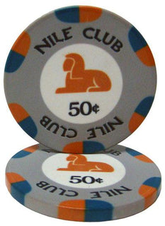 Roll of 25 - .50¢ (cent) Nile Club 10 Gram Ceramic Poke
