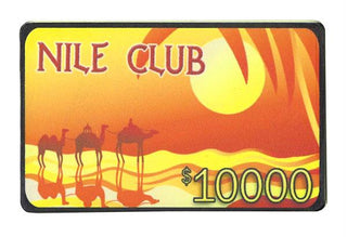 $10,000 Nile Club 40 Gram Ceramic Poker Plaque, 25-pack
