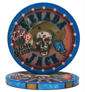 Roll of 25 - $1 Nevada Jack 10 Gram Ceramic Poker Chip