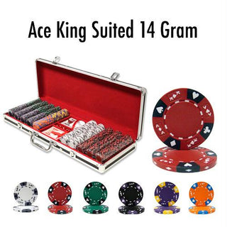 500 Ct - Custom - Ace King Suited 14 G Black Alumium
