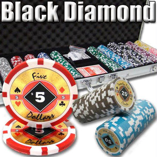 600 Ct. Black Diamond Poker Chip 14 gram - 9 denominations