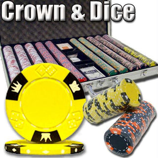 1,000 Ct - Pre-Packaged - Crown & Dice - Aluminum
