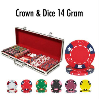 500 Ct - Pre-Packaged - Crown & Dice 14 G - Black Aluminum