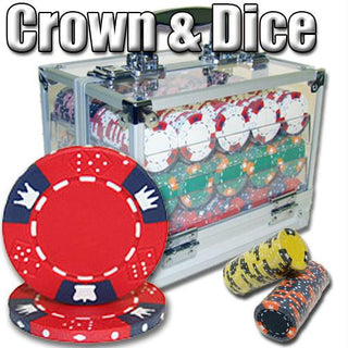 600 Ct - Pre-Packaged - Crown & Dice 14 G - Acrylic