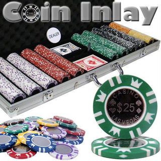 500 Ct Aluminum Pre-Packaged - Coin Inlay 15 Gram Chips
