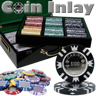500 Ct Hi Gloss Set Pre-Packaged - Coin Inlay 15 Gram Chips