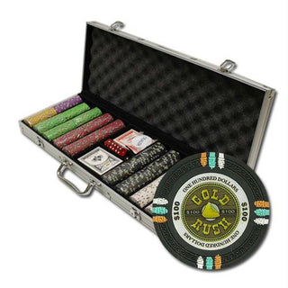 "500Ct Custom Claysmith ""Gold Rush"" Chip Set in Aluminum Case"