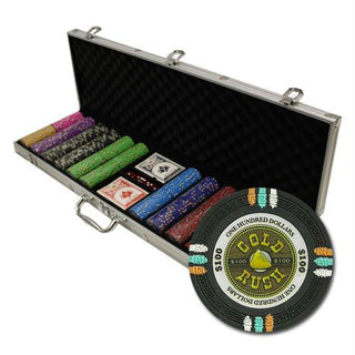 "600Ct Custom Claysmith ""Gold Rush"" Chip Set in Aluminum Case"
