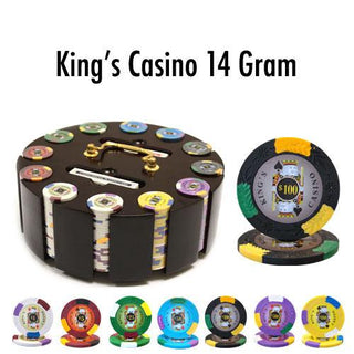 300 Ct - Custom - King's Casino 14 G - Wooden Carousel