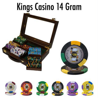 300 Ct - Pre-Packaged - Kings Casino 14 G - Walnut