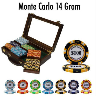 Pre-Pack - 300 Ct Monte Carlo Chip Set Walnut Case