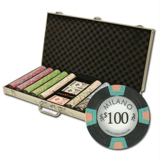 "750Ct Custom Claysmith Gaming ""Milano"" Chip Set in Aluminum"
