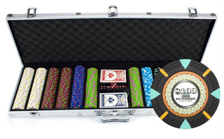 600Ct Claysmith Gaming 'The Mint' Chip Set in Aluminum