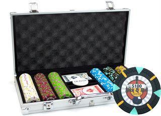 300Ct Claysmith Gaming 'Rock & Roll' Chip Set in Aluminum